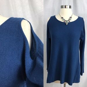 EUC✨MARGARET OLEARY Cold Shoulder Cashmere Sweater
